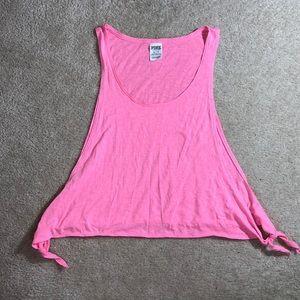 Victoria's Secret Pink Neon Pink Side Tie Tank Top